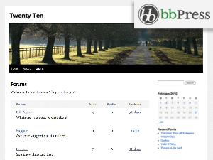 bbPress (Twenty Ten) theme wordpress gratuit