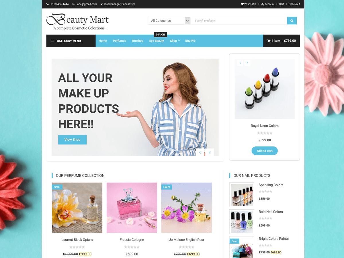 Beauty Mart Wordpress Theme Wordpress Org