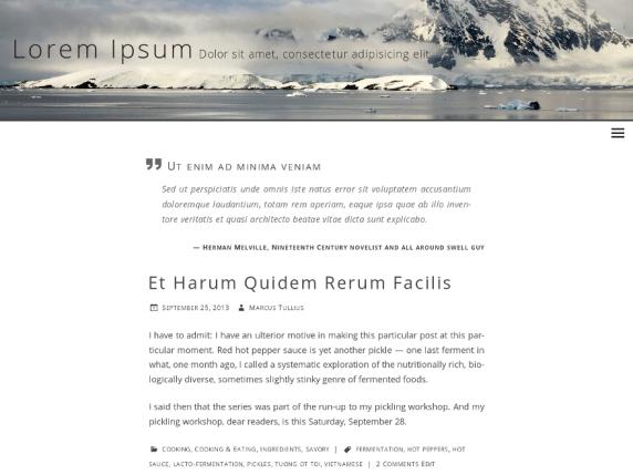 Beluga wordpress theme