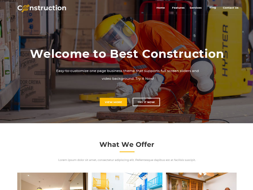 construction website wordpress