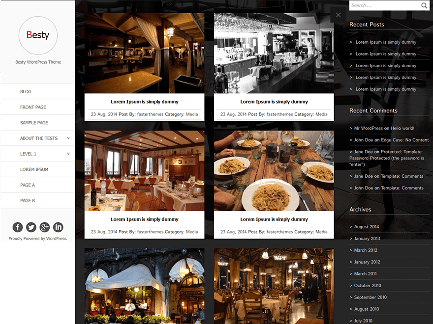 Besty free wordpress theme