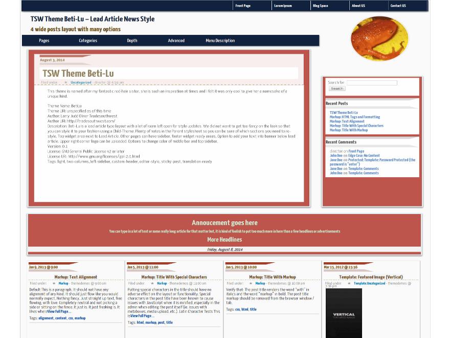 BetiLu free wordpress theme