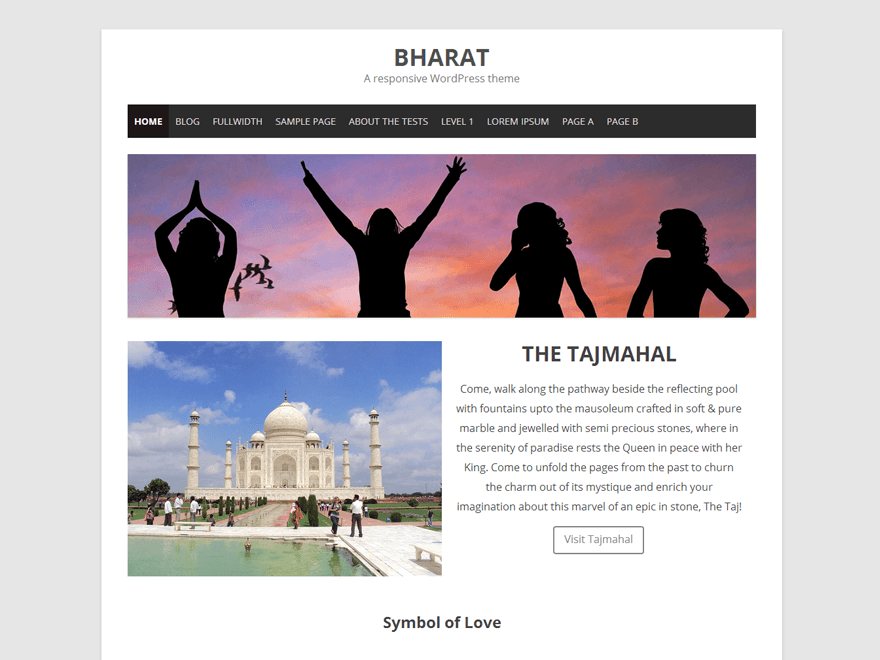 Bharat free wordpress theme