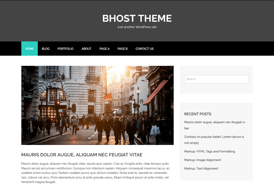 bhost free wordpress theme