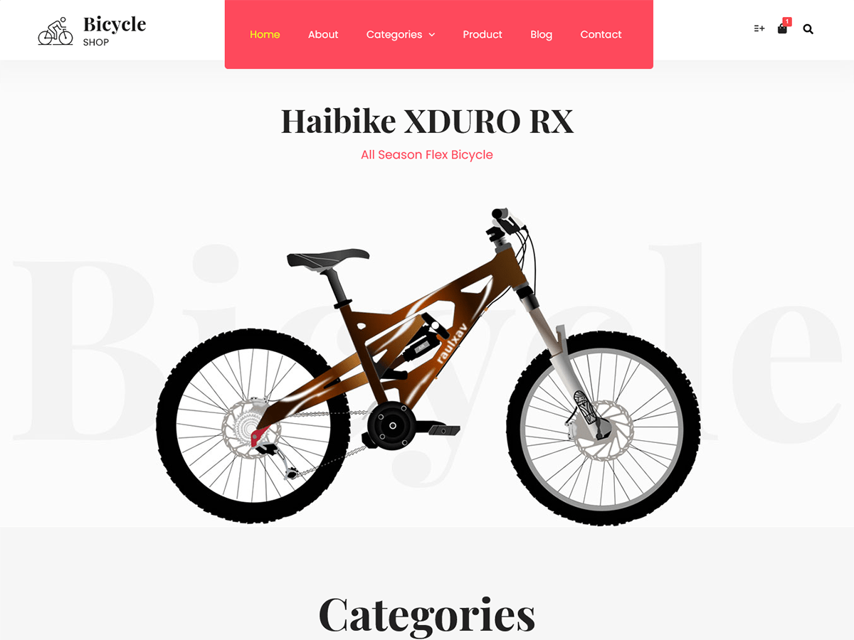Bicycleshop 一款值得推荐的WordPress主题