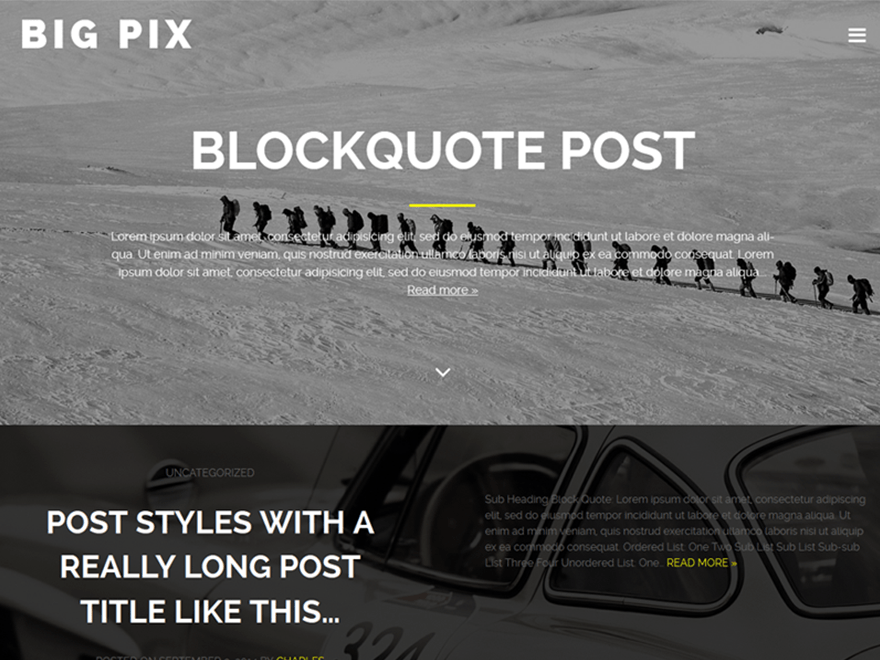 Big Pix wordpress theme