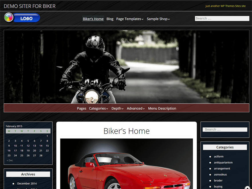 Biker free wordpress theme