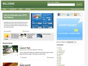 Billions free wordpress theme