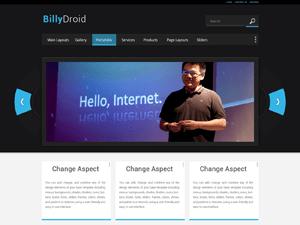 BillyDroid free wordpress theme