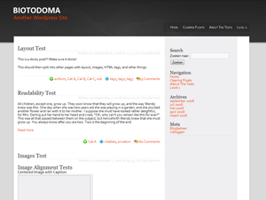 Biotodoma free wordpress theme