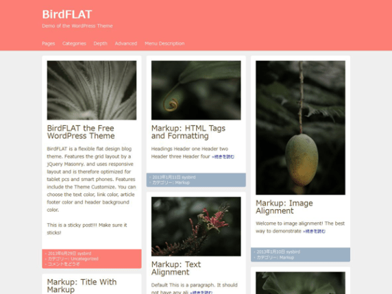 BirdFLAT wordpress theme