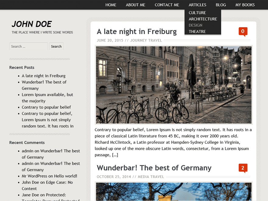 Birthday Gift free wordpress theme