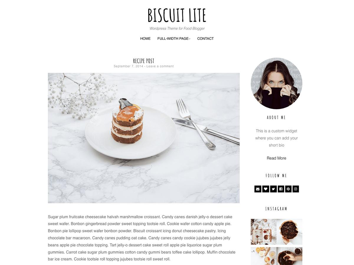 WordPress主题:Biscuit Lite