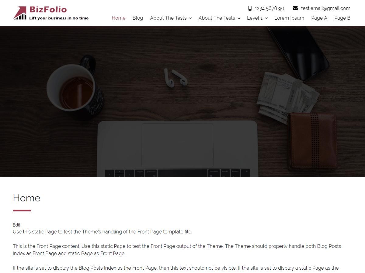 WordPress主题:BizFolio