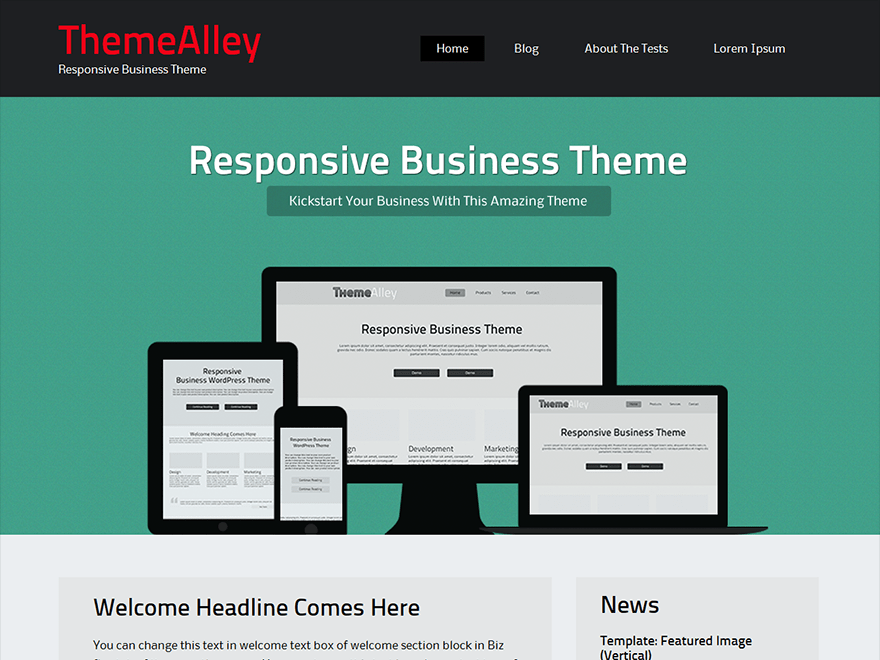 BizSphere free wordpress theme