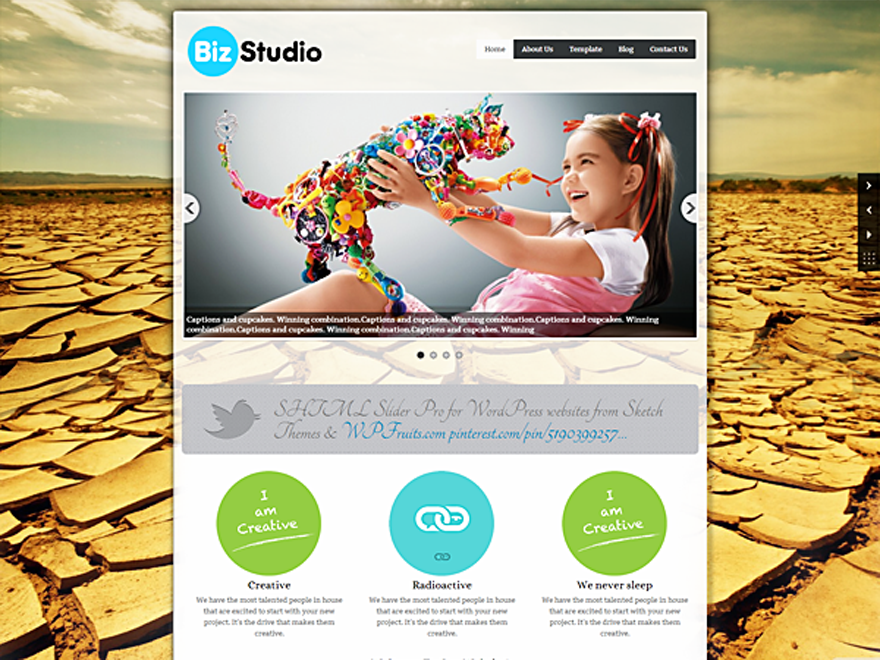 BizStudio Lite free wordpress theme