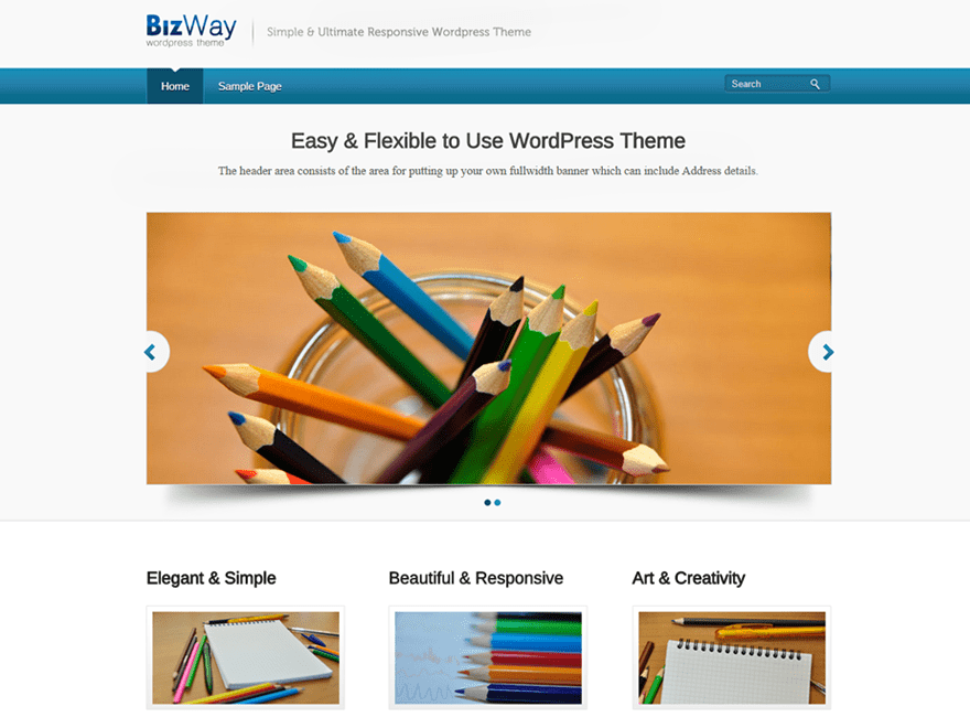 BizWay free wordpress theme