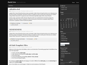 Black n White wordpress theme