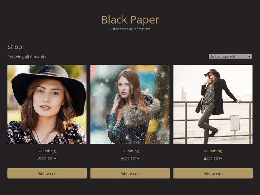 Black Paper free wordpress theme