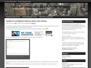 Black skyline free wordpress theme