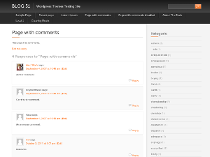 Black with Orange free wordpress theme