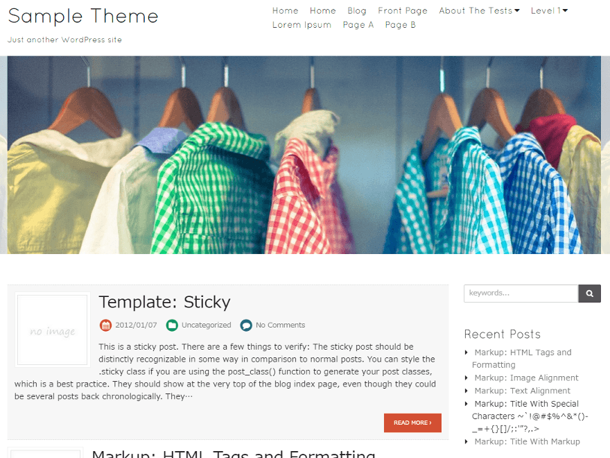 Blanc free wordpress theme