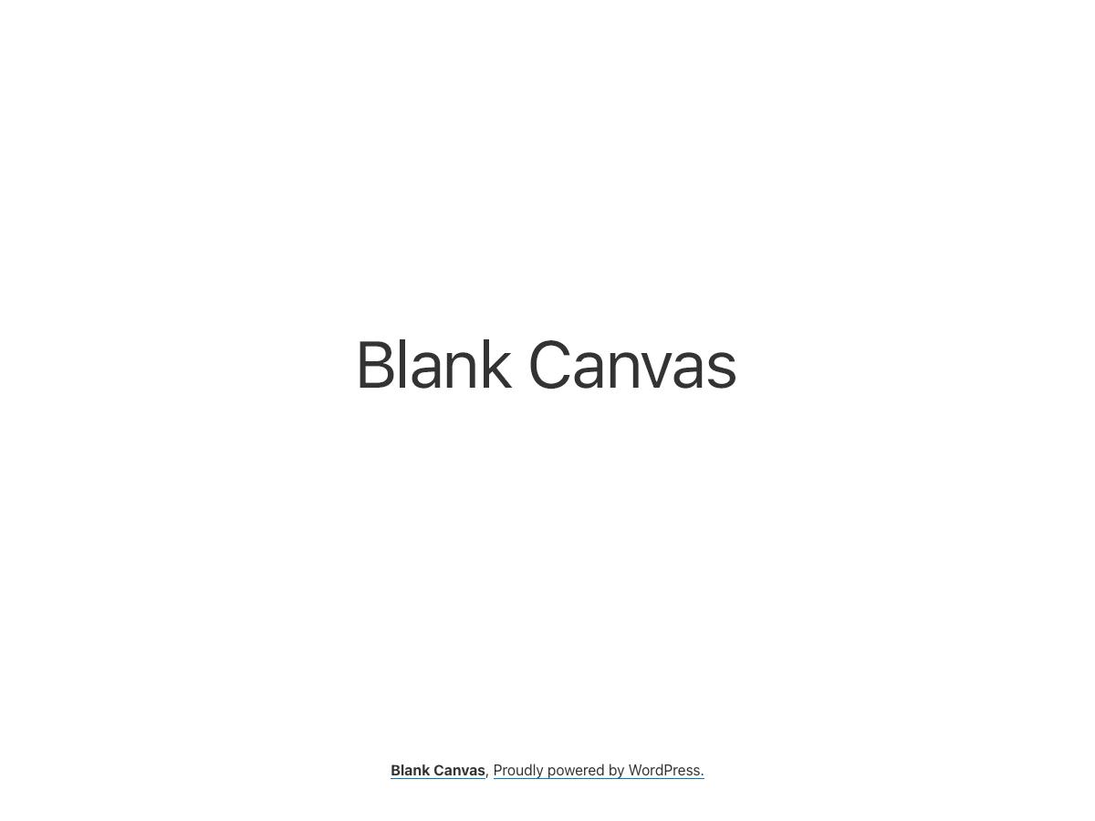 WordPress主题:Blank Canvas