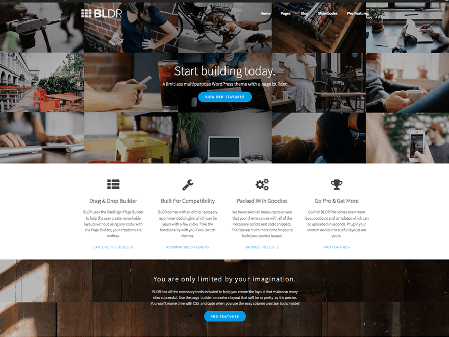 BLDR free wordpress theme