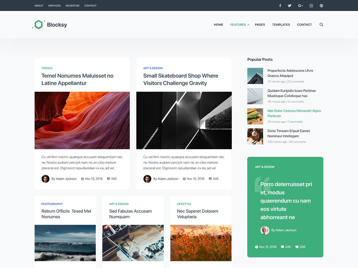 WordPress тема: Blocksy