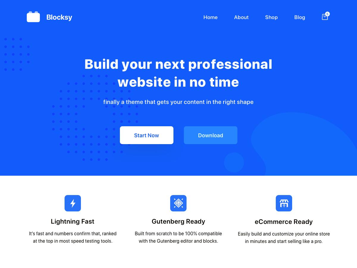 Blocksy wordpress theme free download