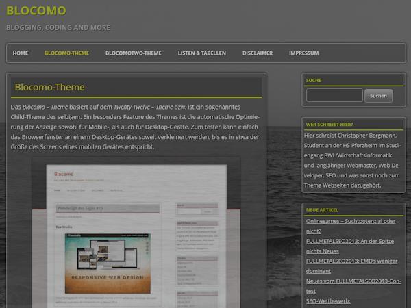 BlocomoTwo free wordpress theme