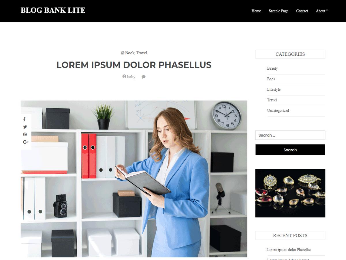 WordPress主题:Blog Bank Lite