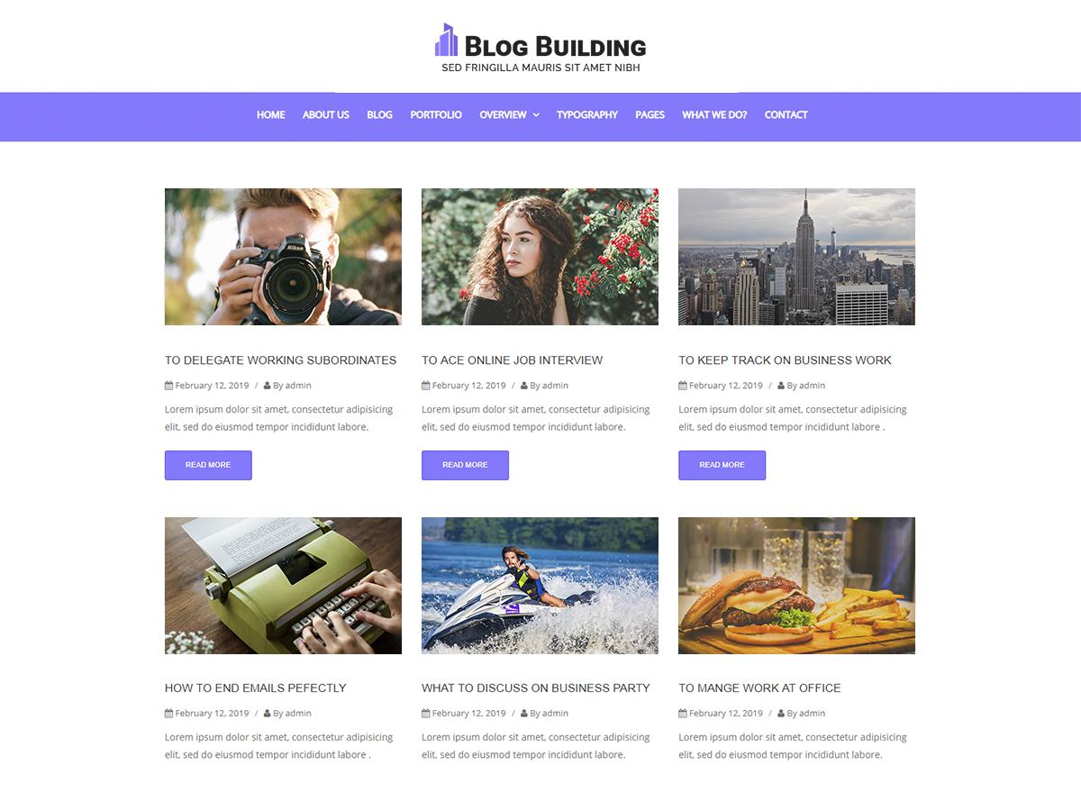 WordPress主题:Blog Building