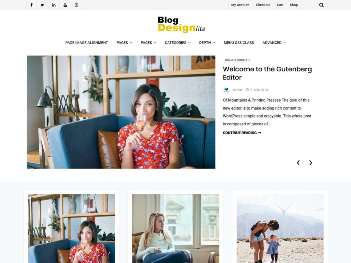 Blog Design Lite Theme Free Download