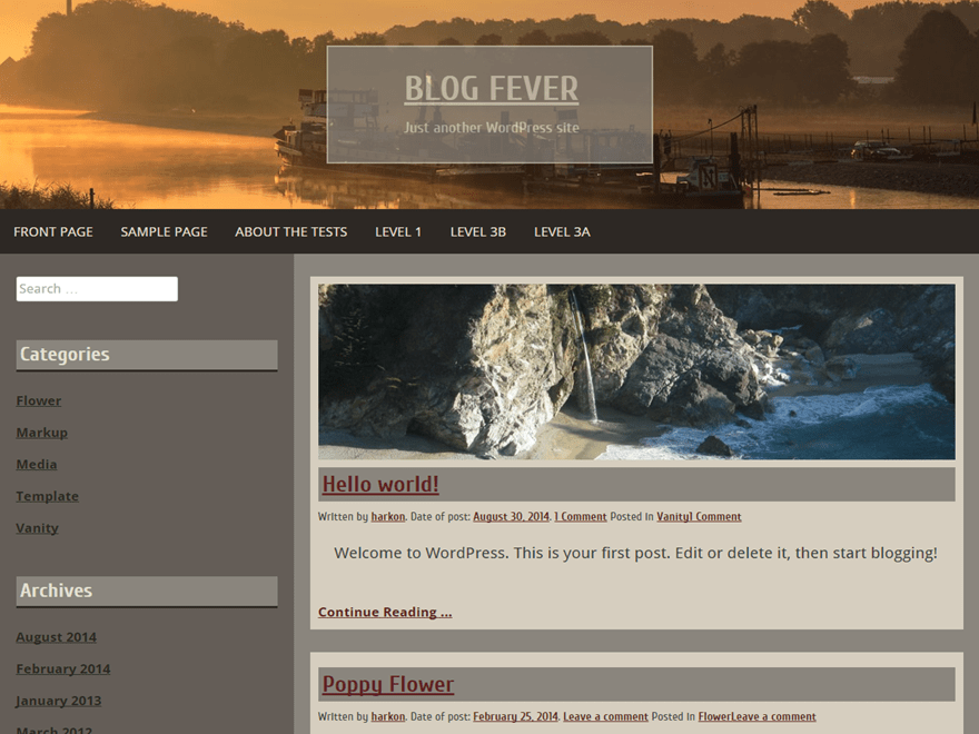 Blog Fever theme wordpress gratuit
