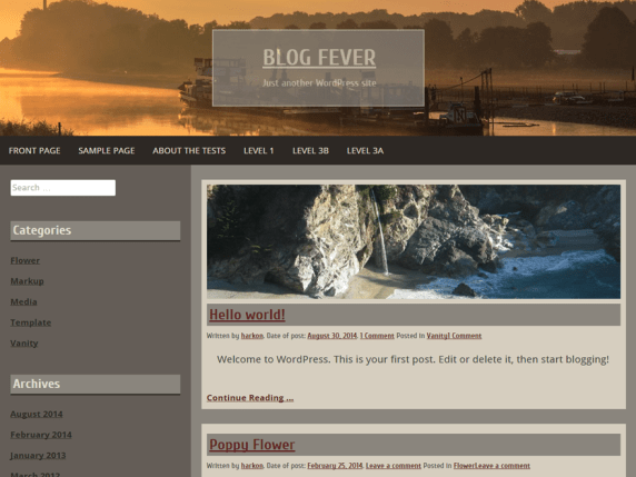 Blog Fever wordpress theme