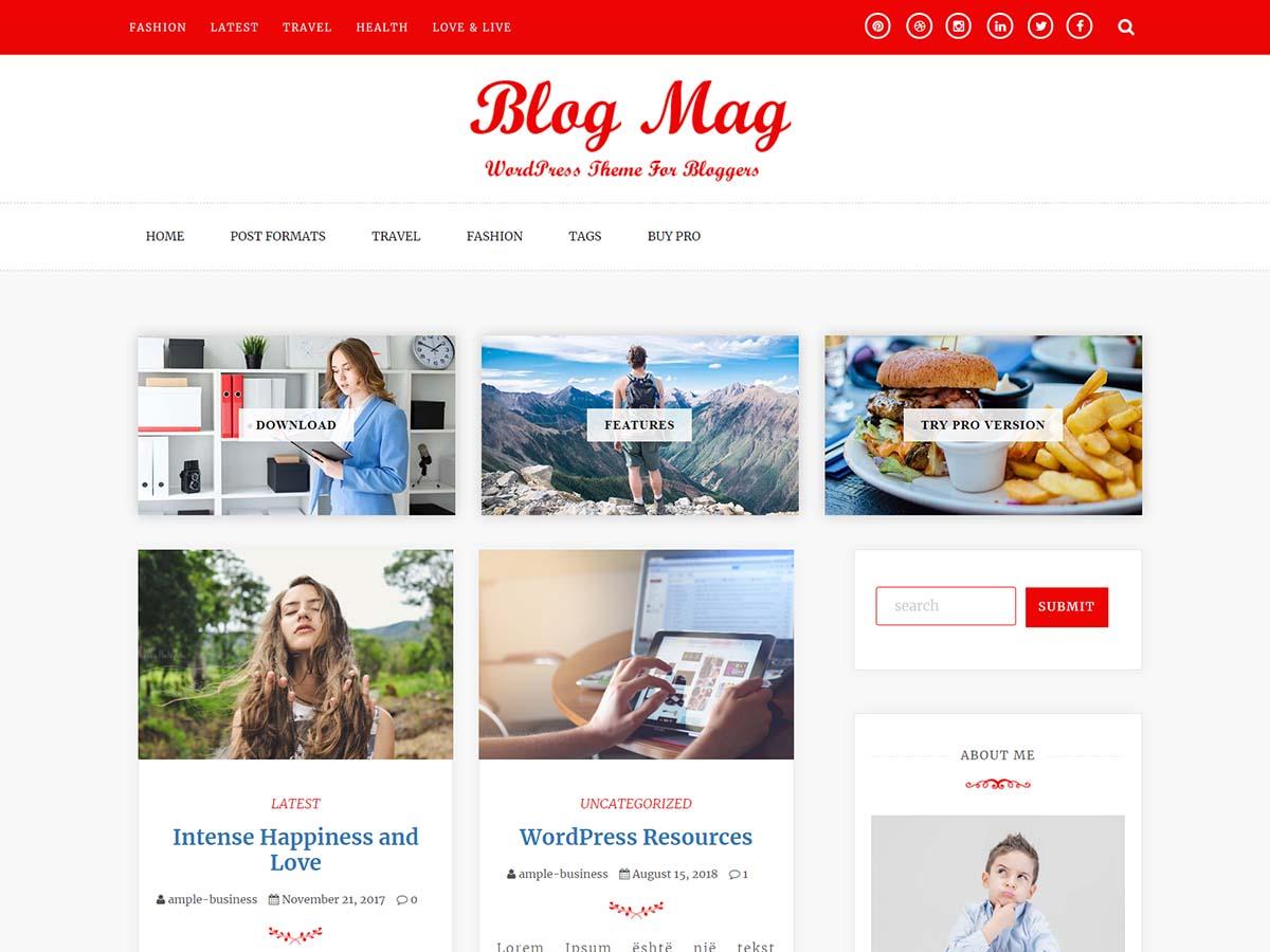 WordPress主题:Blog Mag
