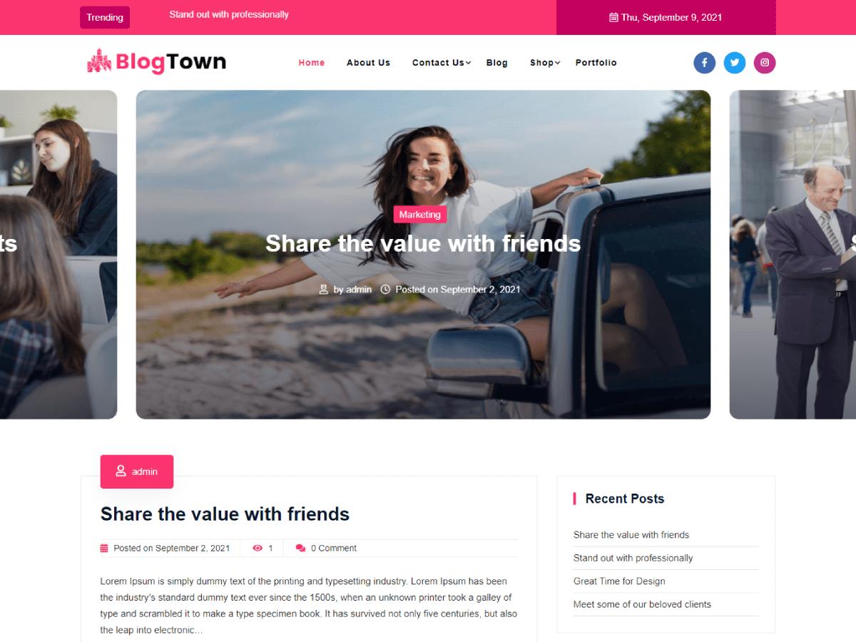 WordPress主题:Blog Town