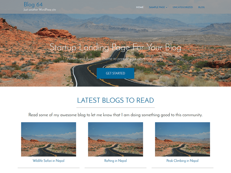 blog64 free wordpress theme