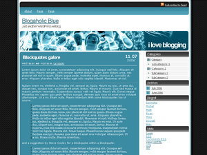 Blogaholic Blue free wordpress theme