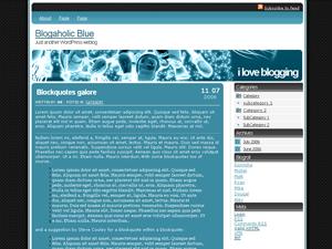 Blogaholic Blue free wordpress theme