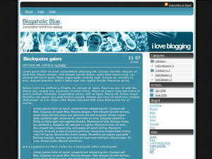 Blogaholic Blue wordpress theme