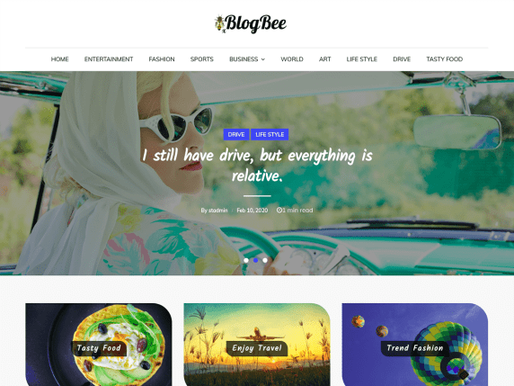 BlogBee WordPress Theme