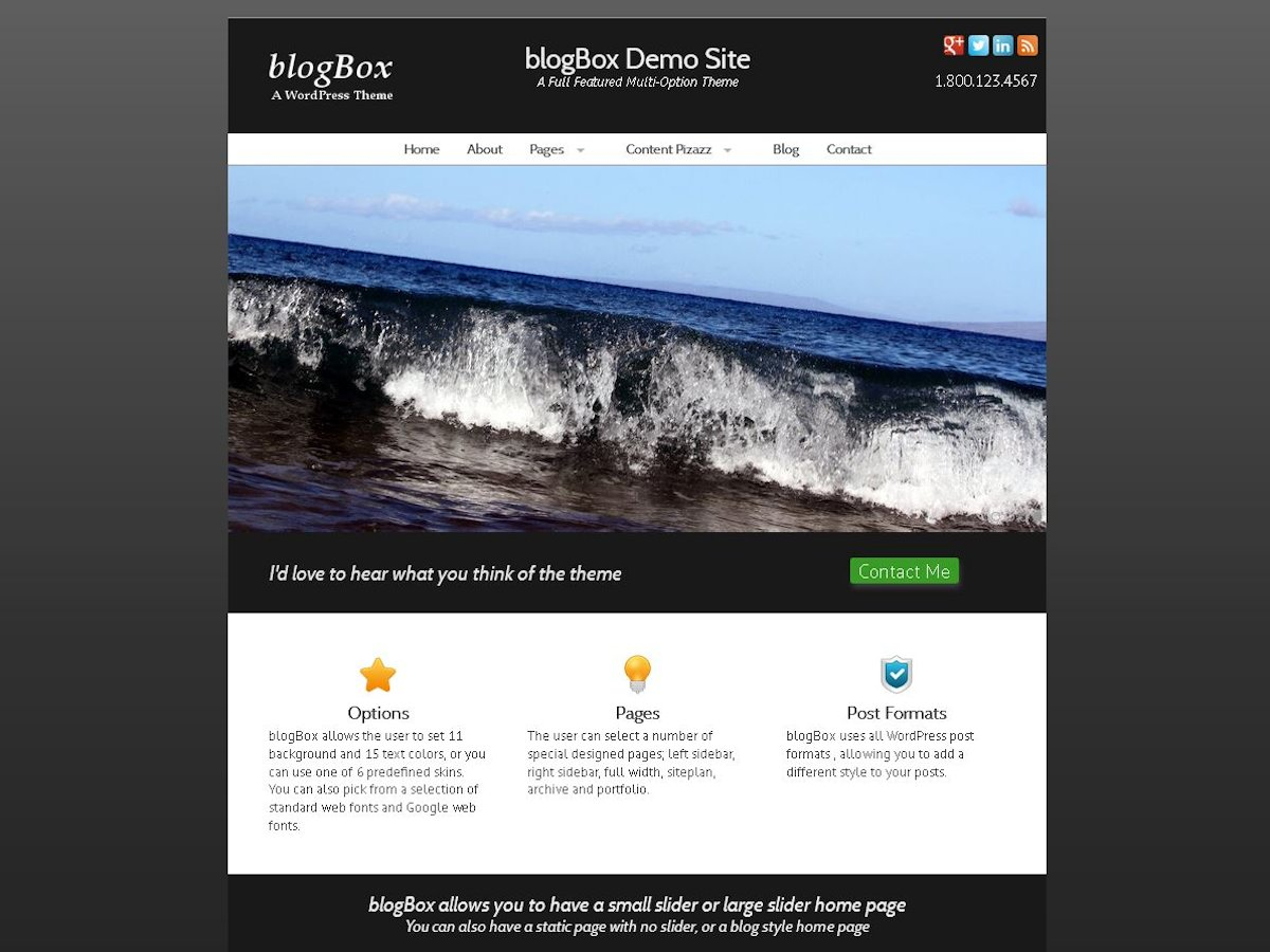 blogBox free wordpress theme