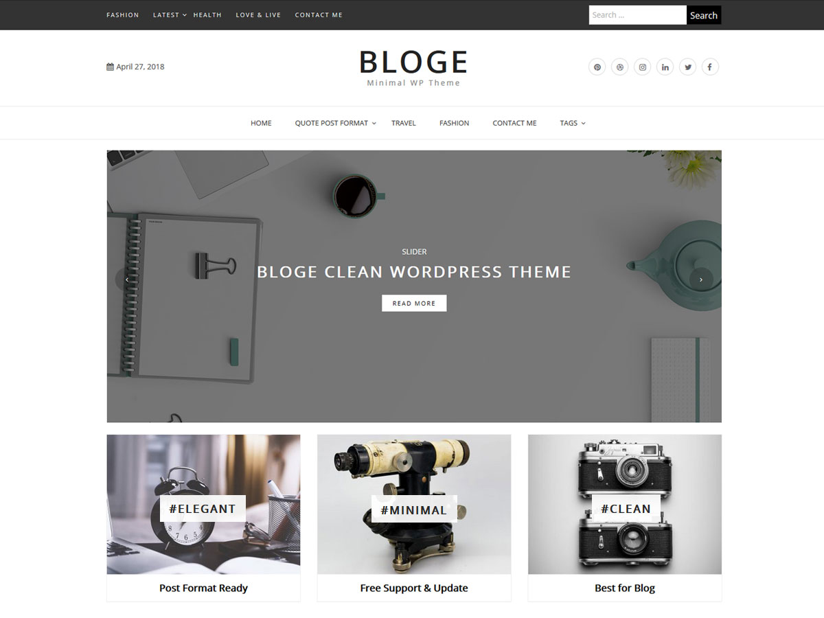 20+ Best Free Elegant WordPress Themes for Personal Blog & Writers 22