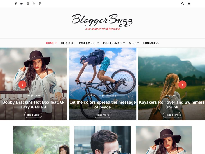 BloggerBuzz-best-free-blogging-WordPress-themes-WPreviewteam