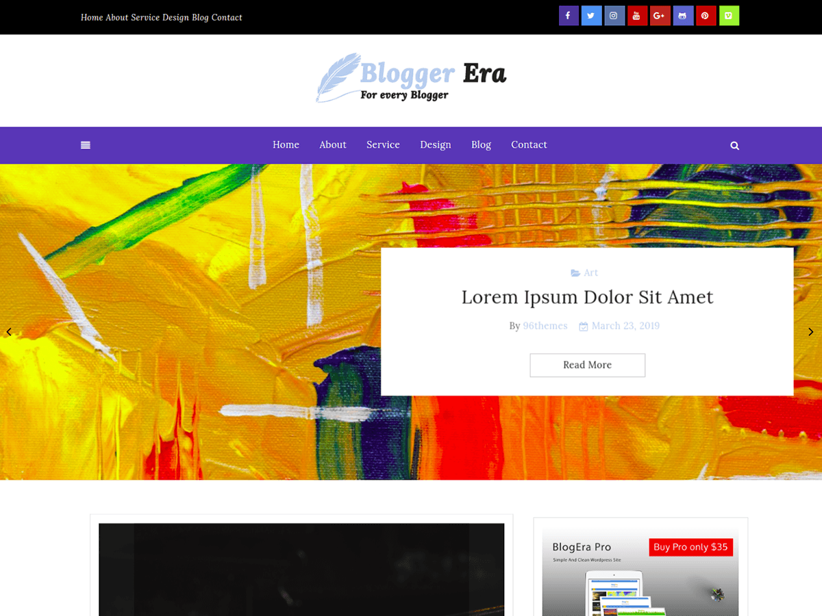 WordPress主题:Blogger Era Plus