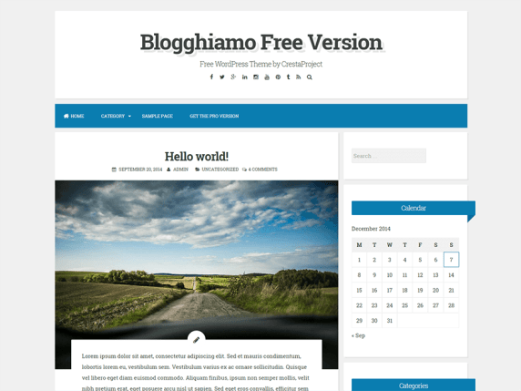 Blogghiamo wordpress theme