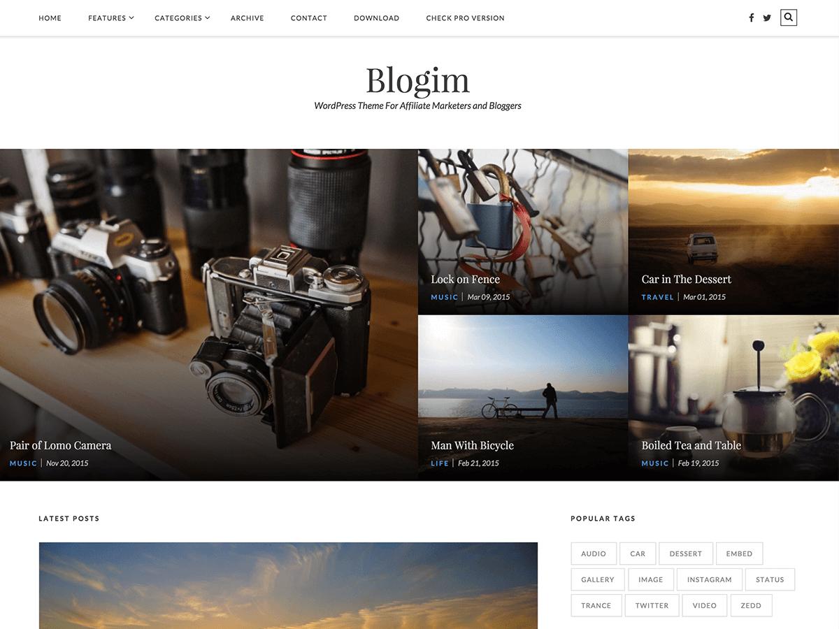 Blogim free wordpress theme