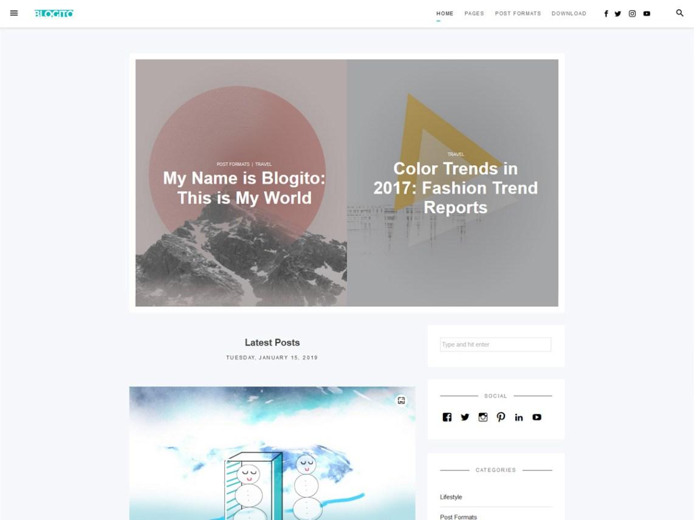 Blogito - WordPress theme | WordPress org